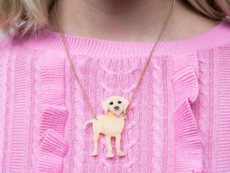 Tatty Devine Battersea Labrador Necklace Brooch