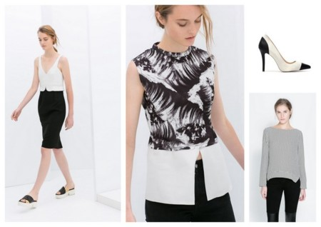 Tendencias low cost negro y blanco Zara