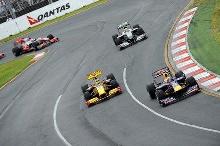 Acción en el GP de Australia 2010