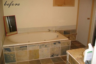 Antes y después: un baño que se pasa al amarillo
