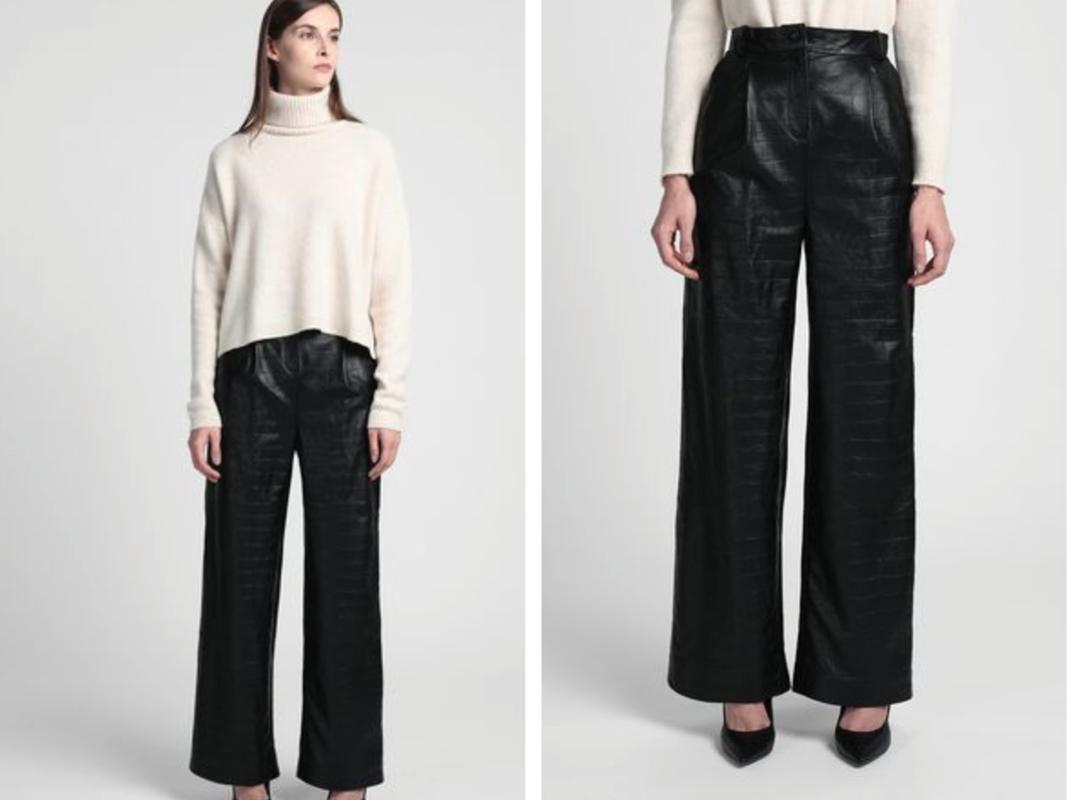 Pantalones de piel auténtica en motivo de cocodrilo de 8 by Yoox