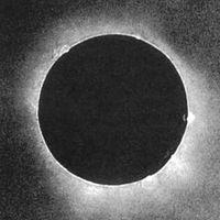 Esta es posiblemente la foto más antigua jamás hecha de un eclipse total de sol en 1851