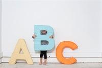El abecedario en versión cojines para niños