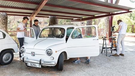 Este SEAT 600 es ahora un coche eléctrico, y ha sido obra de unos estudiantes de Secundaria
