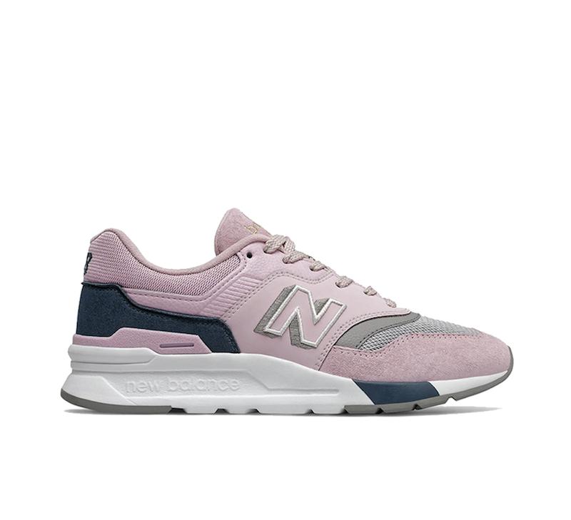 Zapatillas de mujer de serraje New Balance 997 H de color rosa con cordones