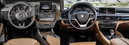 Mercedes,Benz GLE vs BMW X6 Interior