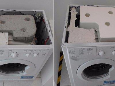 Tu lavadora tiene un enorme bloque de cemento en su interior y sustituirlo por agua podría ayudar al medioambiente