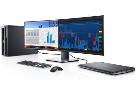 Así de bien lucen las 49 pulgadas en formato ultrapanorámico del nuevo monitor que Dell ha presentado: el Dell U4919DW