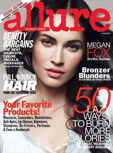 Megan Fox,  casi irreconocible en la portada de Allure con maquillaje natural