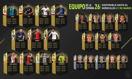 FIFA 18: Un jugador de 92 de media, lo más destacado del TOTW 26