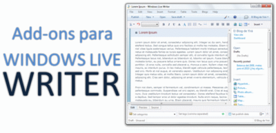 Las mejores extensiones para Windows Live Writer