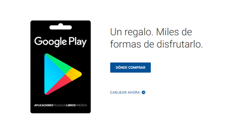 comprar tarjeta de regalo google play