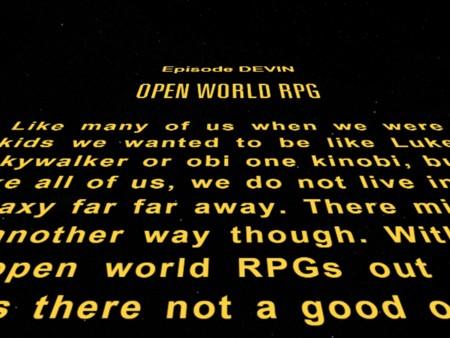 Open World RPG Star Wars