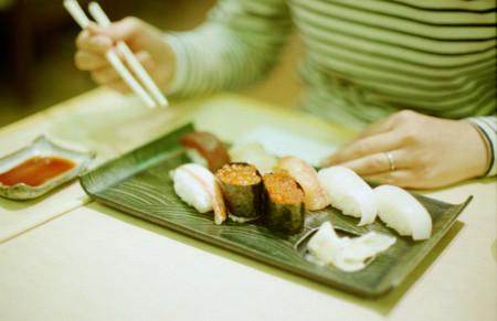 Etiqueta en el sushi
