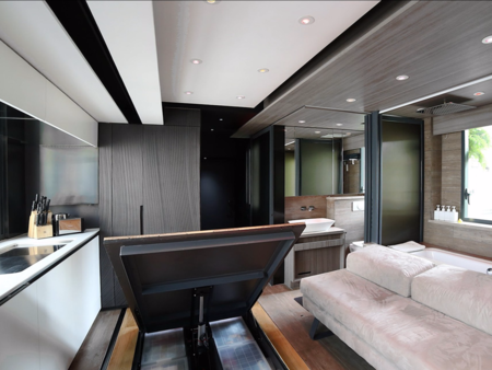This 309 Square Foot Micro Apartment Has A Home Theater Full Kitchen And Even A Guest Bedroom