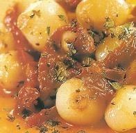 Cebollitas asadas con tomates secos