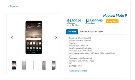 Huawei Mate 9 Mexico Att Precio