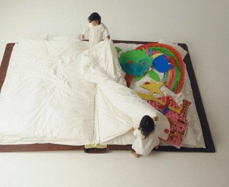 cama libro jugar