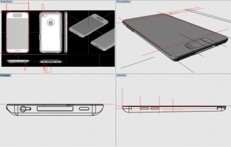 iphone 5 esquemas apple render fake