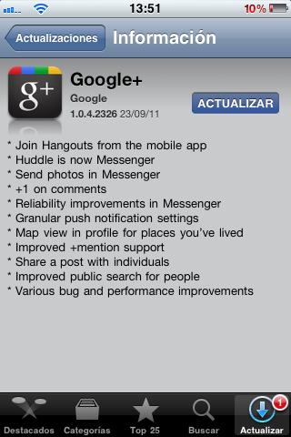 Google+ se actualiza para iOS y Android