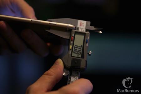 Nuevas fotos muestran un iPhone 6s ligeramente mas grueso y grande que el modelo actual