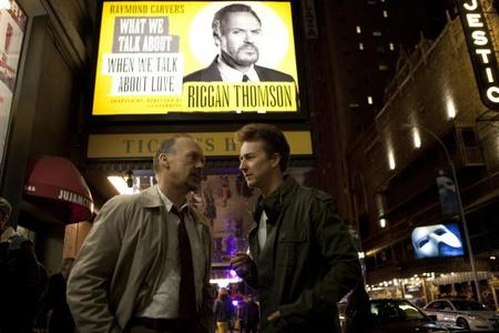 Michael Keaton y Edward Norton en