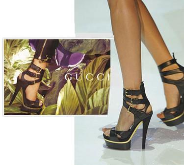 Sandalias de Gucci, la tendencia de primavera en calzado