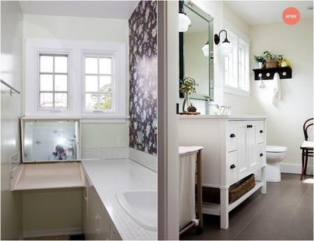 Antes&después: un baño ideal y femenino