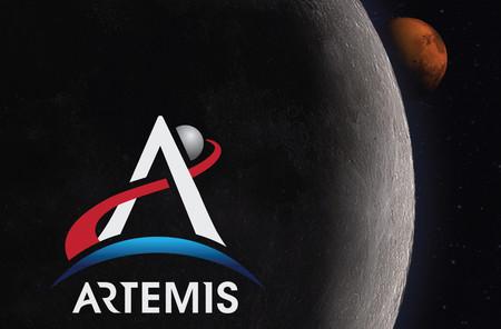 Este es el logotipo de Artemisa, el programa que llevará astronautas de nuevo a la Luna en el año 2024
