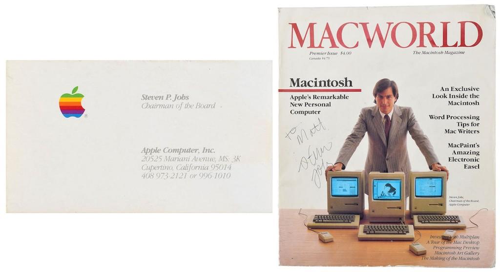 Por qué una tarjeta de visita y una revista Macworld firmada por Steve Jobs superan varios miles de USD en una subasta