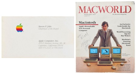 Por qué una tarjeta de visita y una revista Macworld firmada por Steve Jobs superan varios miles de dólares en una subasta