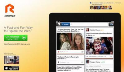 RockMelt llega al iPad como buscador y lector de noticias