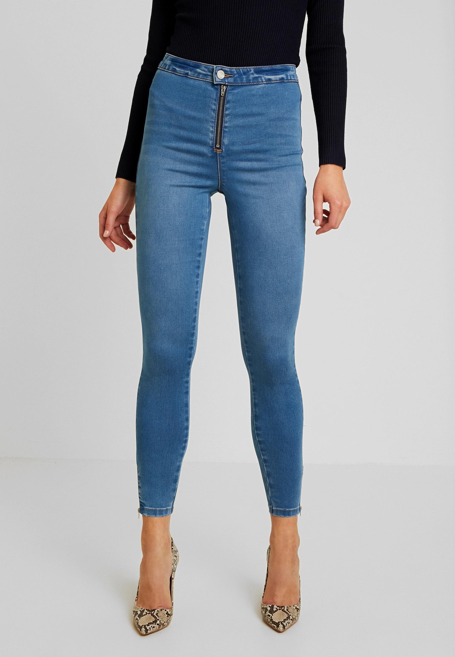 Jeans con cremallera frontal de Missguided