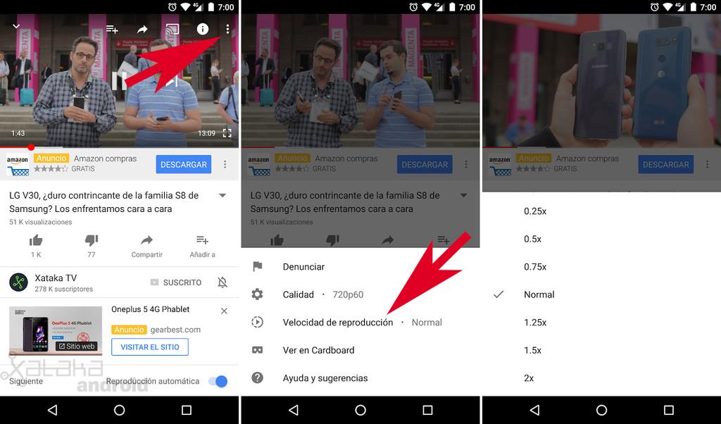 Modifier la vitesse de lecture de YouTube