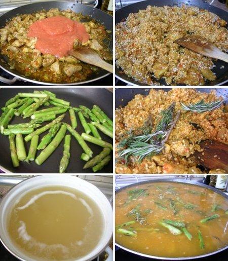 Elaboración de la receta de arroz con cordero . Segunda parte