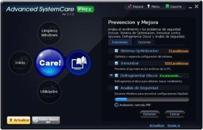 Advanced System Care, excelente alternativa para el mantenimiento de nuestros equipos