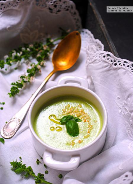 Gazpacho de pepino y albahaca