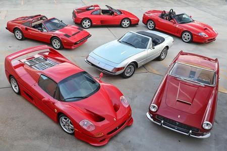 El regalo perfecto: una colección de seis Ferrari descapotables para 'todos los bolsillos' sale a subasta
