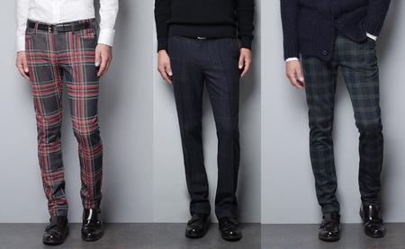 Zara pantalones de cuadros