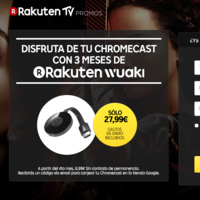 Google Chromecast 2, con 3 meses gratis de series y pelis, por 27,99 euros en Rakuten Wuaki