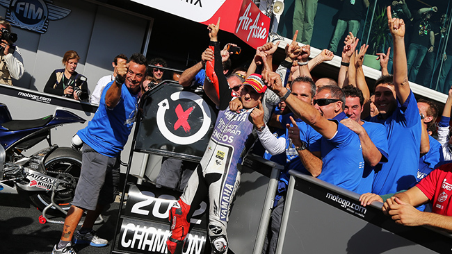 Jorge Lorenzo Campeón del Mundo 2012