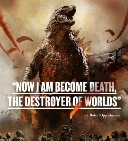 Una imagen promocional de Godzilla