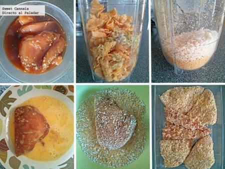 preparacion pollo empanizado