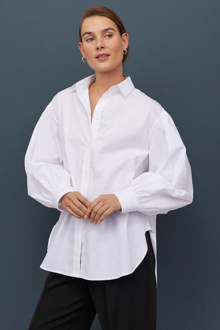 Camisa amplia con mangas globo