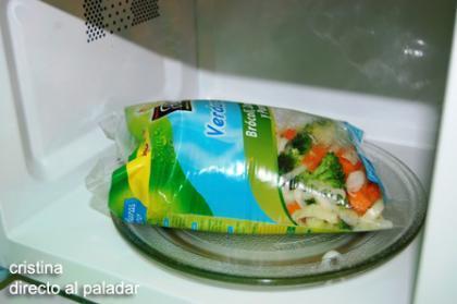 Verduras Micro de Florette, cocinándose