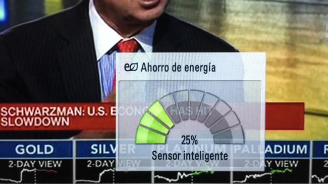 indicaciones encima ahorro energético en televisores