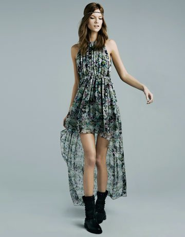 vestido zara flores
