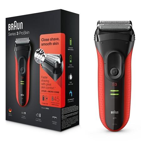 Por 59,90 euros tenemos la afeitadora inalámbrica Braun Series 3 ProSkin 3030S en Amazon con envío gratis