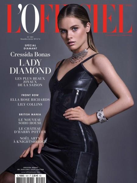 Cressida Bonas despide el año protagonizando la portada de la revista L'Officiel