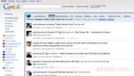 Añade Facebook y Twitter a Gmail